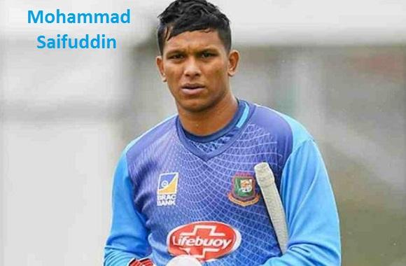 Mohammad Saifuddin Cricketer, Batting, wife, family, age, height