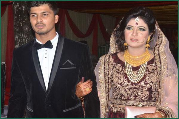 Nurul Hasan with his wife