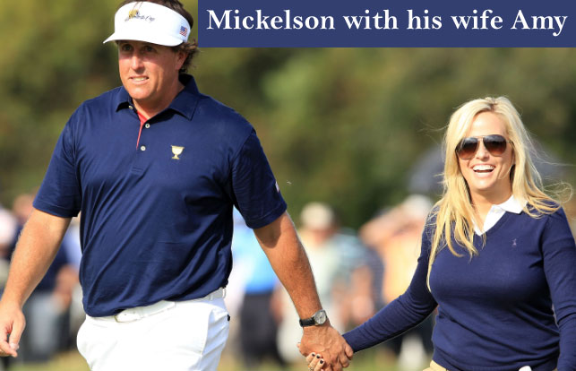 Phil Mickelson with his wife