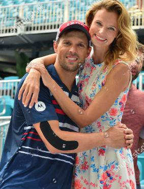 Wesley Koolhof with his girlfriend