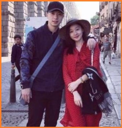 Ma Long with his wife